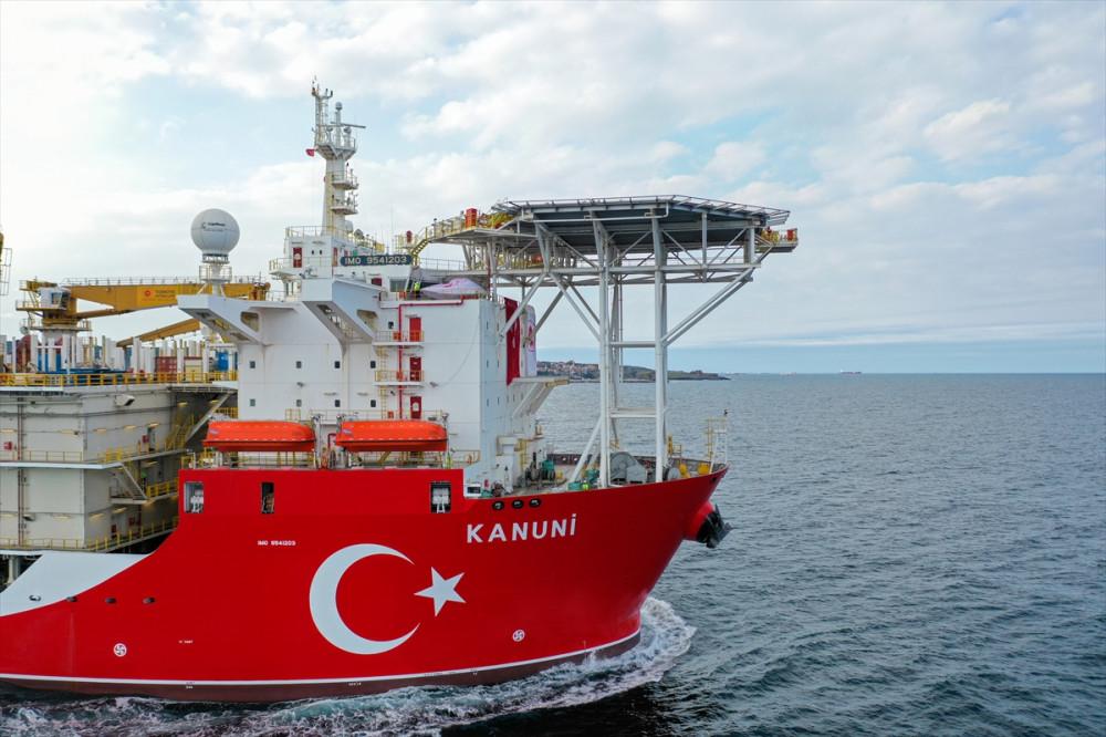 Kanuni Sondaj Gemisi İlk Görevi İçin Karadeniz'e Açıldı